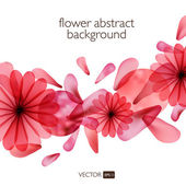 Abstract colorful background with flowers. — Stock Vector