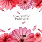 Abstrakt bunt mit Blumen. — Stockvektor