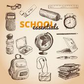 Vector set of school items. — Stock Vector