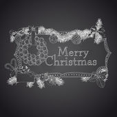 Hand drawn Christmas banners. — Stock Vector