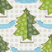 Vector hand drawn Christmas pattern. — Stock Vector