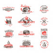 Vector set of bakery logos, labels, badges and design elements. — Stock Vector #80156974