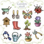 Set of garden accessories. — Stock Vector