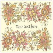 Colorful postcard with flowers — Cтоковый вектор
