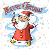 Cheerfully smiling Santa Claus — Stock Vector