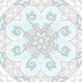 Ornamental ethnicity pattern in cold colors. — Vetor de Stock