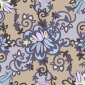 Beautiful elegant floral pattern in dark colors — ストックベクタ