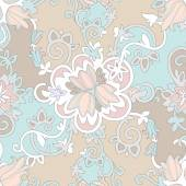 Beautiful elegant delicate floral pattern — Stock vektor