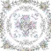 円形のシームレスなパターン. — ストックベクタ
