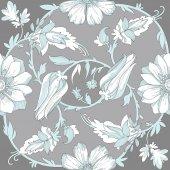 Beautiful elegant floral pattern — Stock Vector