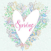 Spring cute greeting card — Stockvector
