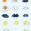 Vector icon sun cloud weather illustrator concept — Stock Vector #70606893
