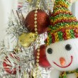 Christmas tree part closed-up detail ball red concept — Stock Photo #71467967