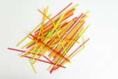 Straw color colorful water suck use concept — Stock Photo