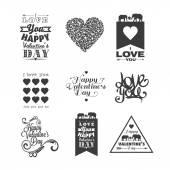 Felice giorno di san valentino del lettering — Vettoriale Stock