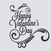 Valentine's day vintage lettering background — Stock Vector