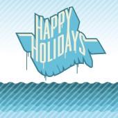 Pasa buenas vacaciones — Vector de stock