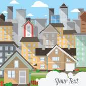 Tasarlamak vektör şehir — Stok Vektör