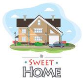 Sweet home — Stock Vector