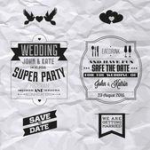 Wedding invitation — Stok Vektör