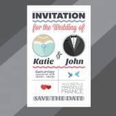 Invitation for the wedding — Stock Vector