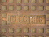 Electric Manhole Cover — Stock Photo