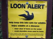 Loon Alert saftey sign — Stock Photo