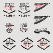 Street fight straight razor — Stock Vector