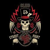 Emblema de pelea callejera — Vector de stock