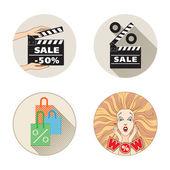 Sale set — Stock Vector