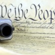 US Constitution with Hand Gun - Right To Keep and Bear Arms — Stock Photo #66031443
