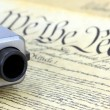 US Constitution with Hand Gun - Right To Keep and Bear Arms — Stock Photo #66031641