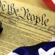 US Constitution with Hand Gun - Right To Keep and Bear Arms — Stock Photo #66031815