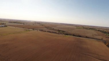 Aerial agriculture farm field landscape — Stock Video