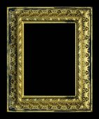 Old antique gold frame isolated on background. — Stock Photo