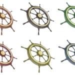 Set ship wheel — Stock Photo #70871057