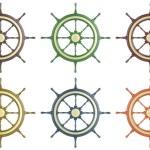 Set ship wheel — Stock Photo #70873505