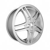 Car Chrome wheel isolated on white background. — Stock Photo
