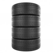 Stack of automotive rubber isolated on white background. — ストック写真