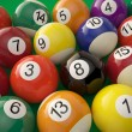 ������, ������: Group of shiny billiard balls