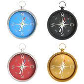 Set of compasses isolated on white background. — Stock Photo