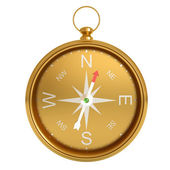 Compass isolated on white background. — Stock Photo