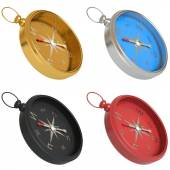 Set of compasses isolated on white background — Stock Photo