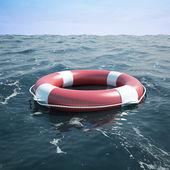 Lifebuoy in the sea — Stock Photo