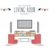 Living room (White Background) — Stock Vector