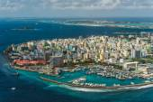 Maldivian capital from above — 图库照片