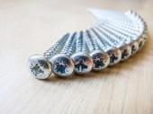 Detail of steel screws — 图库照片