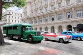 Camion truck bus. Public transport — Stock Photo