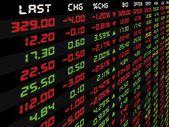 A Display of Daily Stock Market  — Stock Photo