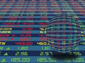 A Display Panel of Daily Stock Market — Stock Photo